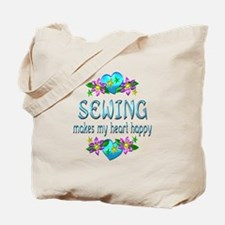 Sewing Heart Happy Tote Bag