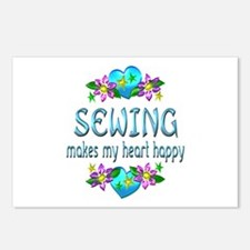 Sewing Heart Happy Postcards (Package of 8)