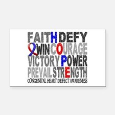 CHD Hope Collage Rectangle Car Magnet