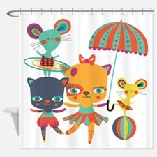 Circus Performers Shower Curtain