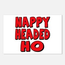 Nappy Headed Ho Red Design Postcards (Package of 8