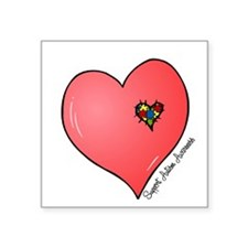 Autism is in my heart Sticker