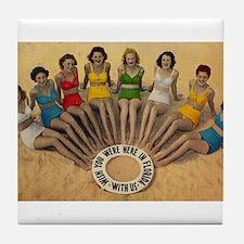 Funny 1940s Tile Coaster