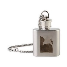 New Orleans Cemetery Flask Necklace