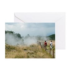Crater walk Greeting Card