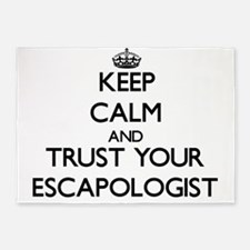 Keep Calm and Trust Your Escapologist 5'x7'Area Ru