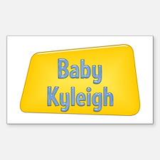 Baby Kyleigh Rectangle Decal