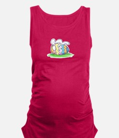 Sleeping Easter Bunny Maternity Tank Top