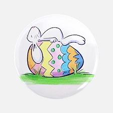"""Sleeping Easter Bunny 3.5"""" Button"""