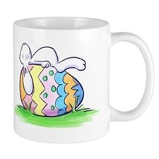 Sleeping Easter Bunny Small Mug