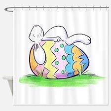 Sleeping Easter Bunny Shower Curtain