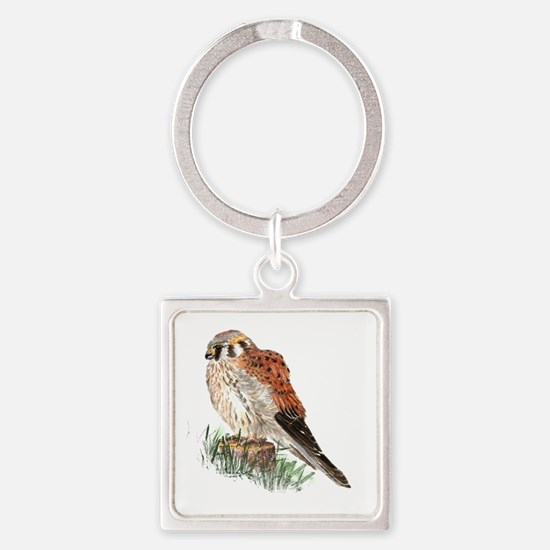 Watercolor Kestrel Falcon Bird Nature Keychains