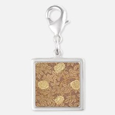 William Morris Rose Silver Square Charm