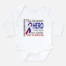 CHD Bravest Hero Long Sleeve Infant Bodysuit
