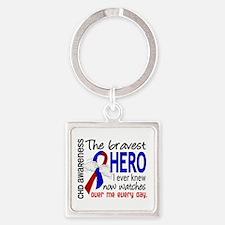 CHD Bravest Hero Square Keychain