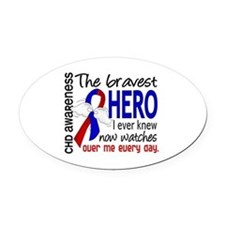 CHD Bravest Hero Oval Car Magnet