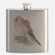 Watercolor Kestrel Falcon Bird Nature Art Flask