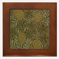 William Morris Vine Framed Tile