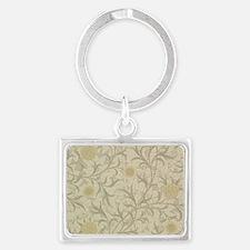 William Morris Scroll  Landscape Keychain