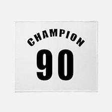 90 Champion Birthday Designs Throw Blanket