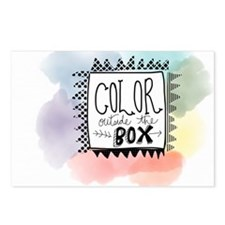 Color Outside the box Postcards (Package of 8)