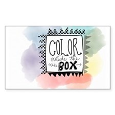Color Outside the box Decal