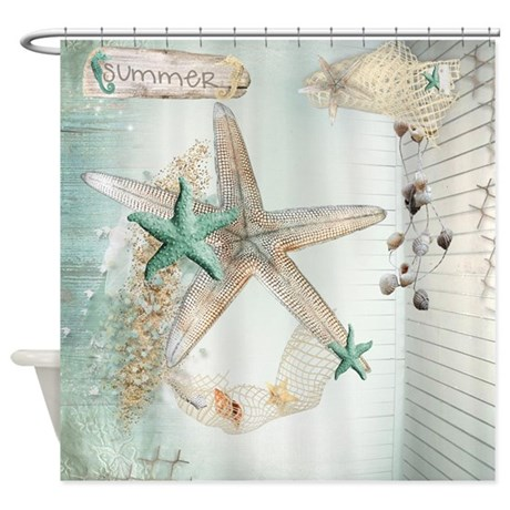 Summer Sea Treasures Beach Shower Curtain By ALittleBitOfThis1