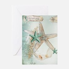 Summer Sea Treasures Beach Greeting Cards