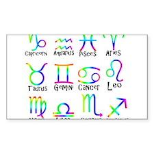 Twelve Zodiac signs Decal