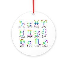 Twelve Zodiac signs Ornament (Round)