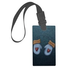 BLUE MITTENS Luggage Tag