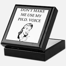 ph.d. joke Keepsake Box