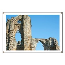 Detail of Whitby Abbey ruins Banner