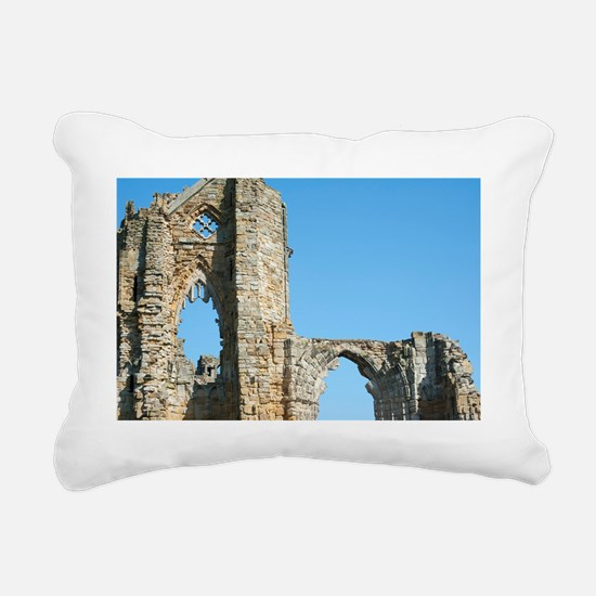 Detail of Whitby Abbey r Rectangular Canvas Pillow
