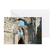 Detail of Whitby Abbey ruins Greeting Card