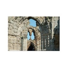 Detail of Whitby Abbey ruins Rectangle Magnet
