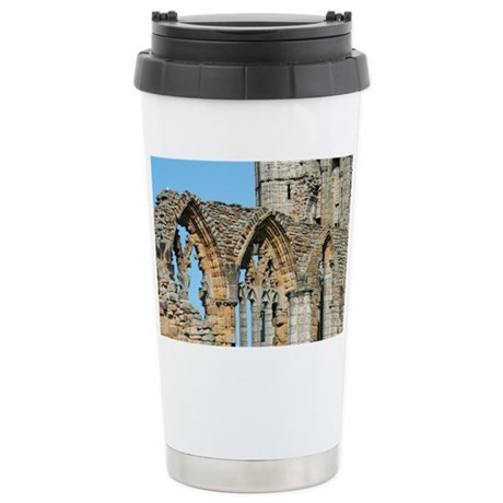 Graceful arches in Whit Stainless Steel Travel Mug
