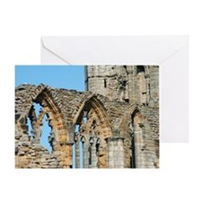 Graceful arches in Whitby Abbey ruin Greeting Card