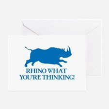 Rhino I Know What You're Thinking Greeting Cards