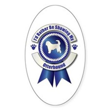Showing Otterhound Oval Decal