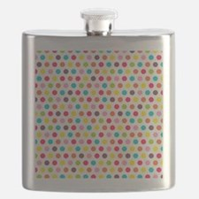 Colorful Polka Dots Pattern 3 Flask
