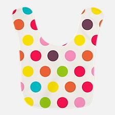 Colorful Polka Dots Pattern 3 Bib