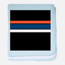 Team Colors 2,,,Orange ,Blue and white baby blanke