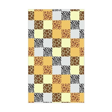 ANIMAL PRINT PATCHWORK Sticker (Rectangle)