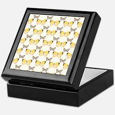 Golden Butterflies Keepsake Box
