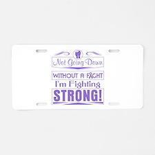 Hodgkins Lymphoma Fighting Aluminum License Plate
