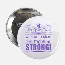 """Hodgkins Lymphoma Fighting Strong 2.25"""" Button"""