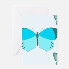 Turquoise Butterflies Greeting Cards