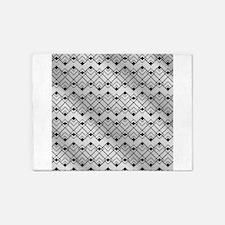 Silver Art Deco 5'x7'Area Rug