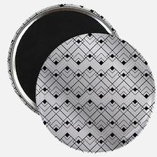 Silver Art Deco Magnets